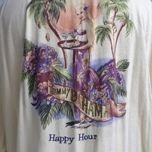TOMMY BAHAMA Happy Hour Embroidered Gold XXL Shirt